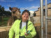 Jeanne Quillan getting a little snuggle from a very friendly camel